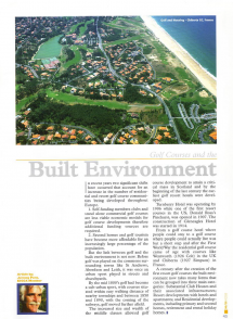 Golf Courses and the Built Envirnoment