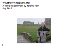 Trumpery in Scotland - A web post
